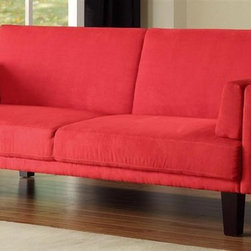 Dorel Home Products Metro Futon Upholstered Sofa Sleeper Soft and durable microfiber