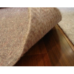 """Dense Felt and All Felt rug pads - The Dense Felt rug pad is 1/4"""" thick and has non slip natural rubber backing. The All Felt is 1/2"""" thick and it is all felt with no rubber backing."""