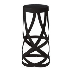 Whirl Bar Stool - A whirling design made from a durable metal, The Whirl Bar Stool gives the illusion of delicate frame, but this bar stool is strong and stylish.