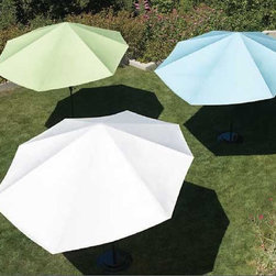 Modern Vizor Outdoor Umbrella - If you love to spend time in your outdoors but don?t just to avoid the rays of the sun,we have a perfect solution for you! Bring home the stylish and state-of-the-art Vizor Umbrella - an elegant response to the problem of consistent outdoor shading ? a brilliant stand alone device that offers complete,effective and targeted shade throughout the day.