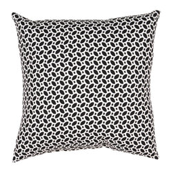 "Jaipur Rugs - Black/Ivory color polyester odl little hipster poly fill pillow 18""x18"" - These fashion forward pillows, in trellis, stripes and whimsical patterns are for both indoor and outdoor use."