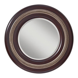 """Murray Feiss - Murray Feiss MR1166 Saxon 36"""" Diameter Circular Mirror - This simple round mirror from the Saxon Collection has hidden depths, with it's decorative inlay and dramatically contrasting frame.Features:"""