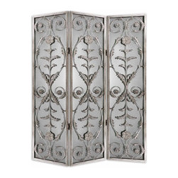 "26116 Sharonrose, Three Panel Screen by Uttermost - Get 10% discount on your first order. Coupon code: ""houzz"". Order today."