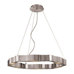 Access Lighting - Access Lighting Titanium Modern / Contemporary Cable Chandelier X-TSF/SB-71326 - Uniquely intriguing and fascinating, this chandelier displays a distinctive metal frame with brushed steel finish. The Access Lighting Titanium contemporary chandelier provides the living space a futuristic appeal with subtle sophistication. The frosted glass shades are enclosed in the metal frame providing a soft glow to the room.