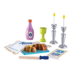 "KidKraft - Kidkraft Kids Children Home Indoor Pretend Play Jewish Hebrew Toy Shabbat Set - Our Shabbat Set gives parents a new, fun way to celebrate the Sabbath with their children. Dimension: 11""Lx 6.25""Wx.75""H"