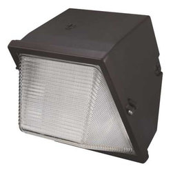 """MONUMENT - Monument Metal Halide Small Wall Pack Aluminum Housing With Polycarbon Lens 100 - Metal Halide Small Wall Pack Aluminum housing with polycarbonate lens with prismatic surface Bronze finish, aluminum reflector UL listed 120/208/240/277 Volt quad tap ballast used with 12MFD 400 Volt capacitor and lamp igniter (IGN 30N) 35-400 Watt 100 Watt ED17 medium base Metal Halide lamp included UL listed for """"Wet Locations"""" Parts list: mounting hardware(1-square bracket: 4-1/4""""L X 4/1/4""""W, 1-square gasket: 4/1/4""""L X 4/1/4""""W, 4-screws) 1 Year Warranty - Manufacturer: Monument"""