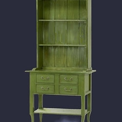 Cool Stuff - BAUSMAN TABLE WITH FOUR DRAWERS AND OPEN HUTCH TOP WITH TWO ADJUSTABLE SHELFS -  FINISH IRELAND -