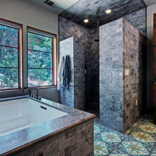 Mediterranean Bathroom by Rick O'Donnell Architect