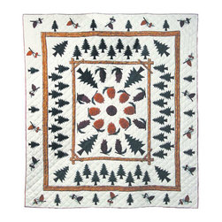 Patch Quilts - Pinewood Quilt King 105 x 95 - - Intricately appliqued and beautifully hand quilted.Bedding ensemble from Patch Magic  - The Name for the finest quality quilts and accessories  - Machine washable.Line or Flat dry only Patch Quilts - QKPNWD