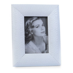 "Concepts Life - Concepts Life Photo Frame  Loving Link  White  4x6"" - Inspired by fine jewelry, these white Loving Link frames will add sparkle and a hint of romance to your photograph collection. Ideal for your home as well as for your loved ones!  Modern home accent Contemporary white picture frame Beautiful and elegant home accent Rectangular photo frame Made of polyresin Easel back for horizontal or vertical display Various sizes available Textured finish Holds 4 x 6 in. size photo Dimensions: 7""w x 9""h x 1""d Weight: 1.5 lbs"