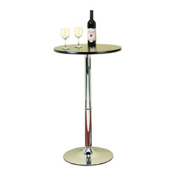 ecWorld - Urban Designs Chrome Pub Bar Table - Black Matte Top - Bistro, bar or pub tables are an easy way to create a relaxing home bar or casual dining area. This contemporary counter height table is functional, affordable and attractive. A handsome addition to any bar area or kitchen. Strong built and design made to stand up to the elements for years.
