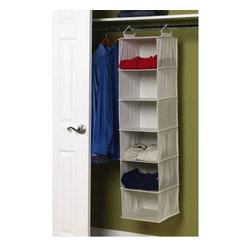6-Shelf Hanging Closet Organizer -