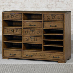 "Hammary - Hidden Treasures Printers Cabinet - ""Hammary's Hidden Treasures collection is a fine assortment of unique accent pieces inspired by some of the greatest designs the world over. Each selection is rich in Old World icons and traditions."