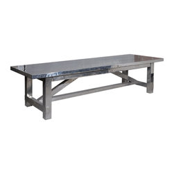Marco Polo Imports - Ezekiel Dining Table-Areo - Modern dining table forged from high quality aluminum with a sleek areo finish. Sure to make an unforgettable addition to any dining room.