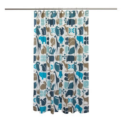 Dwellstudio Shower Curtain - The Shower Curtain's by DwellStudio will leave your kids begging to bathe. The 100% cotton shower curtains have oversize grommets.