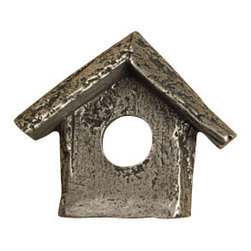 Anne at Home Hardware - Birdhouse Knob, Antique Bronze - Made in the USA - Anne at Home customized cabinet hardware enables even the most discriminating homeowner to achieve the look of their dreams.  Because Anne at Home cabinet hardware is designed to meet your preferences, it may take up to 3-4 weeks to arrive at your door. But don't let that stop you - having customized Anne at Home cabinet knobs and pulls are well worth the wait!   - Available in many finishes.