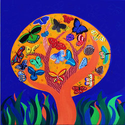 The Tree of Life, 30 x 30 in - 36 x 36 in, original painting on canvas