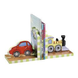 Teamson Design - Teamson Kids Transportation Hand Painted Book Ends - Teamson Design - Kids Bookcases - W9941A