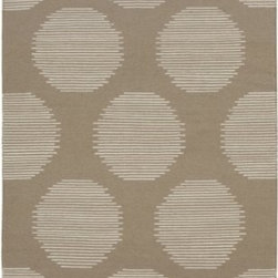 Surya Rugs - Surya FT-389 Frontier Flat Weave Area Rug, 5-Feet by 8-Feet, Stone - 100% Wool. Style: Flat Weave. Rugs Size: 5' x 8'. Note: Image may vary from actual size mentioned.