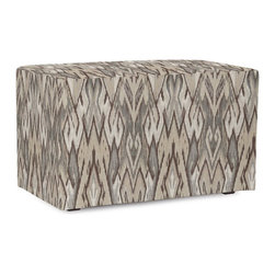 Howard Elliott - Ikat  Universal Bench - Simple design, infinite uses. Benches make great side tables, ottomans, alternate seating and more. Constructed by our expert craftsmen, our Benches are made with a sturdy base and high-density foam.