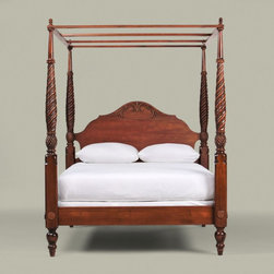 British classics montego canopy frame - The island-inspired Montego bed is rich in details that will have you feeling as if you're on a tropical vacation. Carved pineapples, an island symbol meaning welcome, are part of detailed carving found on this beautiful bed. For a romantic look, hang sheer drapery panels from each corner of the canopy.