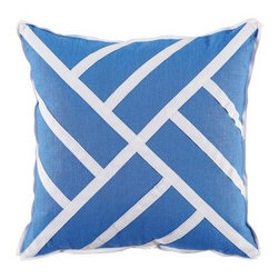 Chinese Chippendale Pillow - Royal Blue - Clayton Gray Home -