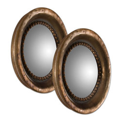 Uttermost - Tropea Rounds Wood Mirror Set of 2 - Tropea Rounds Wood Mirror Set of 2