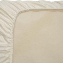Naturepedic Organic Flannel Ivory Crib Fitted Sheet - Naturepedic Organic Flannel Ivory Crib Fitted Sheet