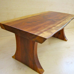 Live-edge Redwood Coffee Table - This Live-Edge Redwood coffee table was comissioned by some customers who had salvalged it from a tree in their yard some twenty years earlier. Edwin Young
