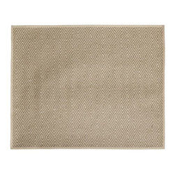Diamond Sisal Area Rug w/ Binding - Finally! You've found the most versatile rug on the market. This attractive diamond-patterned sisal comes in four colors and a variety of sizes. It's got a look and feel that works with almost any decor.