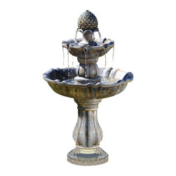 Bond - Bond Y97024 Patella Water Fountain - Create a stunning focal point in your backyard with this classic look. Multiple tiers and rivulets generate dynamic movement and pleasant sounds.