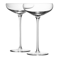 LSA Wine Champagne Saucer - I love how classic champagne coupes are — you can't help but feel festive when drinking from them. Cheers!