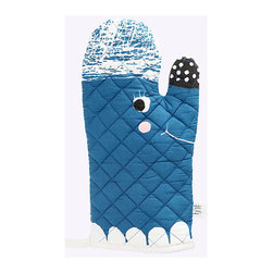 Fine Little Day Whale Oven Mitt - Illustrated by artist Elisabeth Dunker, this happy little oven mitt is filled with the Swedish artist's seaside spirit.