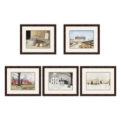 Paragon Art - Paragon Country Scenes ,Set of 5 - Artwork - Country Scenes ,Set of 5       ,  Paragon Artist is Jacobs , Paragon has some of the finest designers in the home accessory industry. From industry veterans with an intimate knowledge of design, to new talent with an eye for the cutting edge, Paragon is poised to elevate wall decor to a new level of style.
