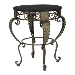 Safavieh - Safavieh Karen Side Table X-A8404HMA - Classical styling reminiscent of ancient Greek craftsmanship make the Karen side table an elegant addition to both Mediterranean and traditional interiors.