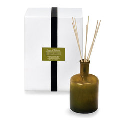 House and Home Sage and Walnut / Library Diffuser - Like the welcome retreat of a warmly appointed library, the House and Home Sage and Walnut/Library Candle invites you to linger, to unwind, to let loose the day's vexations. The natural soy based candle surrounds you with a deep, earthy, and warm scent that is a blend of green sage, walnut, and chestnuts.