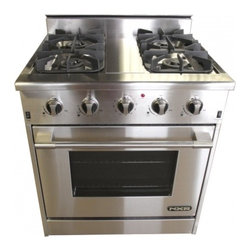 """NXR - Professional Series DRGB3001 30"""" Wide Freestanding Natural Gas Range with 4 Seal - The NXR 30 Professional Style gas range is the definition of cooking convenience The range top comes standard with four 15000 BTU sealed gas burners complimented by heavy-duty cast iron cooking grates The spacious 42 cubic foot convection oven is equ..."""
