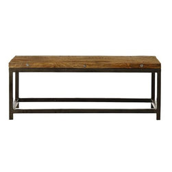 Home Decorators Collection - Holbrook Coffee Table - With its stylishly weathered look and quality construction, our Holbrook Coffee Table will add rugged, sophisticated appeal to your living room. This coffee table is crafted of century-old reclaimed wood, so no two tables are ever exactly alike. Handcrafted of carefully treated, century-old reclaimed wood. Iron base with durable rust-free coating.