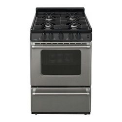 "Premier - Pro Series P24S3102P 24"" Freestanding Gas Range With 4 Sealed Burners  2.9 Cu. F - Prepare your favorite meals with this Premier Pro Series P24S3102P 24 freestanding gas range that features an Even-Temp oven with a keep-warm setting to help maintain an optimal temperature The sealed burners make cleanup simple"
