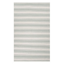 Jaipur Rugs - Jaipur Rugs Indoor-Outdoor Easy Care Polyester Blue/Ivory Area Rug, 5 x 8ft - Bring the comfort of inside, outside, with these reversible woven rugs. Stripes can coordinate and can be used in multiple areas of the home or patio.