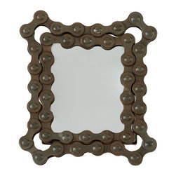 2X2 Bicycle Chain Picture Frame - Perfect for bike lovers, this sturdy frame adds a touch of vintage cyclical charm to any room.