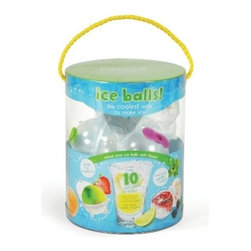 Prepara - Ice Balls (10 Pack) - Fill and freeze these 2-inch round orbs for a fun cube alternative. Pack them with mint leaves, basil, fruits and more or fill ice balls with juice, lemon or lime segments. Use them in pitchers, cocktails, punch bowls and tumblers, The larger size means drinks stay cooler longer, ice balls won't melt as fast. Because of the silicone top seal, ice won't smell like leftover food in your refrigerator.