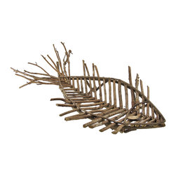 Zeckos - Natural Mangrove Branch Wooden Fish Centerpiece Display Platter Ocean Decor - This wonderful display tray has a natural charm straight out of a mangrove forest. The tray composes individually cut branches into the form of a beautiful fish with a curved bowl shape. Display decorative ornaments or fresh fruit with an aquatic accent on this unique dish. Large enough to accommodate large decorative arrangements, the platter measures 30 inches long, 17 inches wide, and 7 inches tall. This aquatic tray makes a great natural home accent as a table centerpiece displaying your favorite dish.