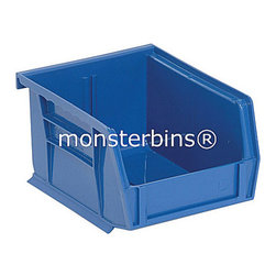 Plastic Bins - Stackable - This stacking  bin comes in packs of 24.  The dimensions are 7-3/8 x 4-1/8 x 3.  Available in multiple colors as well as clear.  Use these all around your house to keep track of small parts and supplies.