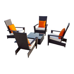 BABMAR - Martano Outdoor Chair Set - Designed for comfort, durability and stackability. The Martano all weather wicker adirondack chair will be sure to turn your outdoor living space into a place of beauty.