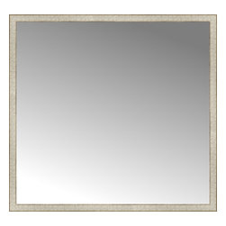 """Posters 2 Prints, LLC - 56"""" x 53"""" Libretto Antique Silver Custom Framed Mirror - 56"""" x 53"""" Custom Framed Mirror made by Posters 2 Prints. Standard glass with unrivaled selection of crafted mirror frames.  Protected with category II safety backing to keep glass fragments together should the mirror be accidentally broken.  Safe arrival guaranteed.  Made in the United States of America"""