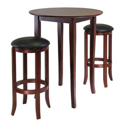 Winsome - Fiona Round 3pc High/Pub Table Set - Fiona Round 3pc High/Pub Table Set