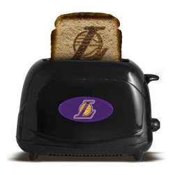 Pangea - LA Lakers ProToast Elite Blk - Los Angeles Lakers ProToast Elite. Fire up your team spirit at breakfast with this Pangea Brands ProToast Elite 2-slice toaster that brands your favorite logo onto your bread to salute your favorite team. Seven heat settings let you control the level of browning. Black.  This item cannot be shipped to APO/FPO addresses. Please accept our apologies.