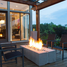 Modern Fire Pits by GARDENFLAME
