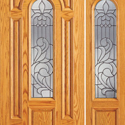 "Pre-hung Mahogany Center Arch Lite Entry Door with One Sidelite - SKU#    525-A-1-1Brand    AAWDoor Type    ExteriorManufacturer Collection    Unique Entry DoorsDoor Model    Door Material    WoodWoodgrain    MahoganyVeneer    Price    2074Door Size Options    [30""+12"" x 80""] (3'-6"" x 6'-8"")  $0[30""+18"" x 80""] (4'-0"" x 6'-8"")  $0[32""+12"" x 80""] (3'-8"" x 6'-8"")  $0[32""+18"" x 80""] (4'-2"" x 6'-8"")  $0[36""+12"" x 80""] (4'-0"" x 6'-8"")  +$10[36""+18"" x 80""] (4'-6"" x 6'-8"")  +$10[42""+12"" x 80""] (4'-6"" x 6'-8"")  +$170[42""+18"" x 80""] (5'-0"" x 6'-8"")  +$170[30""+18"" x 84""] (4'-0"" x 7'-0"")  +$192[36""+18"" x 84""] (4'-6"" x 7'-0"")  +$212[42""+18"" x 84""] (5'-0"" x 7'-0"")  +$432[30""+12"" x 96""] (3'-6"" x 8'-0"")  +$412[30""+18"" x 96""] (4'-0"" x 8'-0"")  +$412[32""+12"" x 96""] (3'-8"" x 8'-0"")  +$412[32""+18"" x 96""] (4'-2"" x 8'-0"")  +$412[36""+12"" x 96""] (4'-0"" x 8'-0"")  +$432[36""+18"" x 96""] (4'-6"" x 8'-0"")  +$432[42""+12"" x 96""] (4'-6"" x 8'-0"")  +$792  $Core Type    SolidDoor Style    TraditionalDoor Lite Style    Center Arch LiteDoor Panel Style    7 Panel , Raised MouldingHome Style Matching    Colonial , Plantation , VictorianDoor Construction    Engineered Stiles and RailsPrehanging Options    PrehungPrehung Configuration    Door with One SideliteDoor Thickness (Inches)    1.75Glass Thickness (Inches)    3/4Glass Type    Triple GlazedGlass Caming    BlackGlass Features    Insulated , TemperedGlass Style    Glass Texture    Glue ChipGlass Obscurity    Moderate ObscurityDoor Features    Door Approvals    FSCDoor Finishes    Door Accessories    Weight (lbs)    510Crating Size    25"" (w)x 108"" (l)x 52"" (h)Lead Time    Slab Doors: 7 daysPrehung:14 daysPrefinished, PreHung:21 daysWarranty    1 Year Limited Manufacturer WarrantyHere you can download warranty PDF document."
